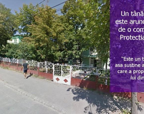 Elev aruncat în stradă de Protecția Copilului Tulcea