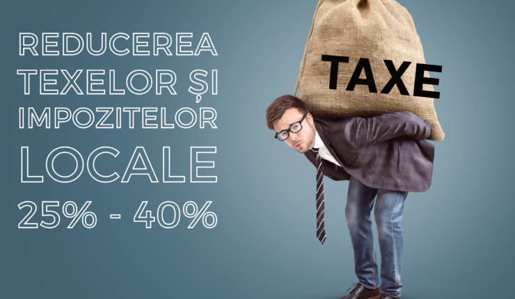 Proiect privind reducerea taxelor și impozitelor locale pentru anul 2021